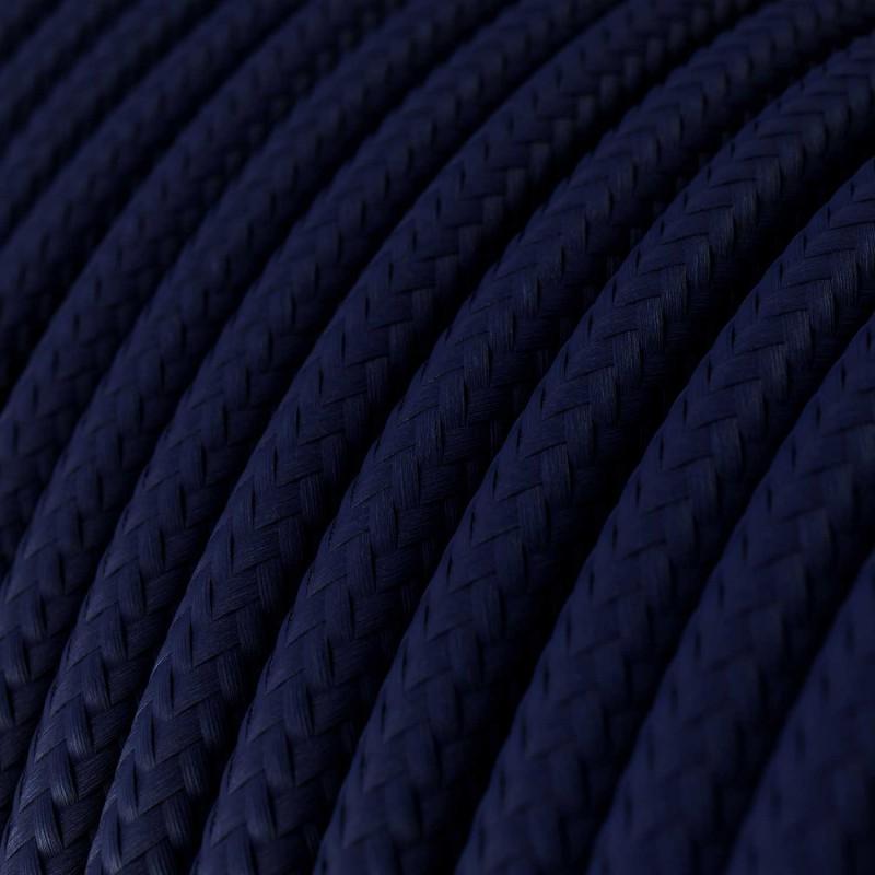 Okrugli tekstilni električni kabel RM20 - mornarsko plava