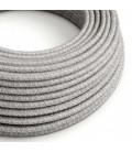Okrugli tekstilni električni kabel RN02 - siva