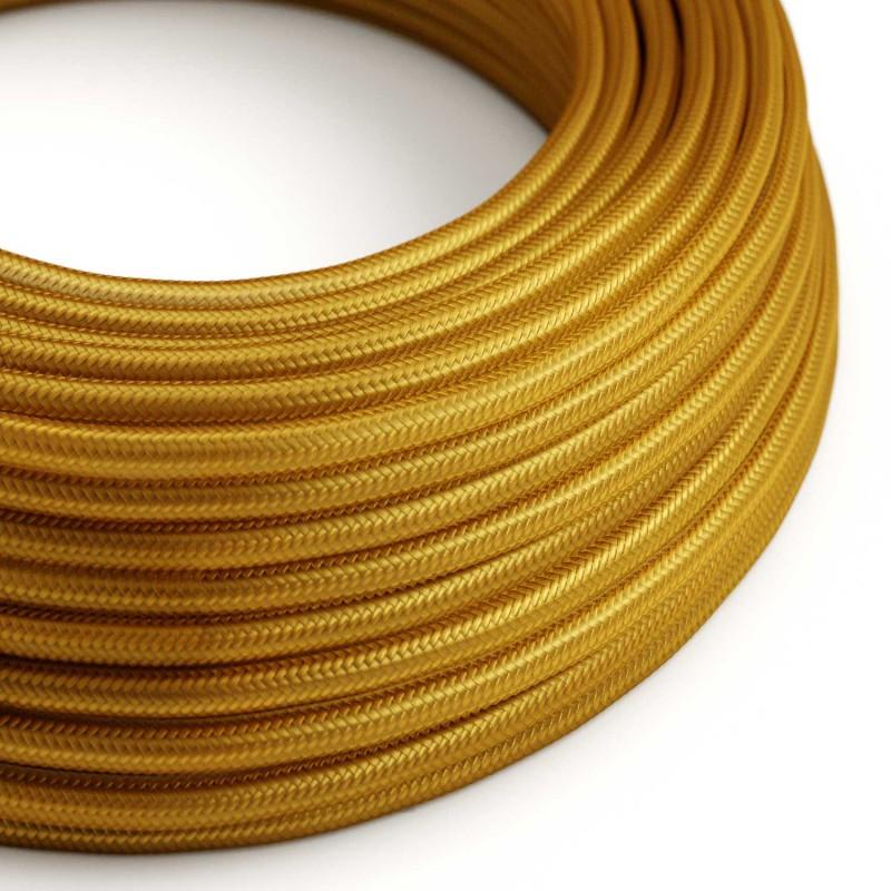 Okrugli tekstilni električni kabel RM05 - zlatna
