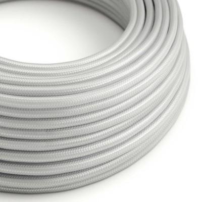 Okrugli tekstilni električni kabel RM02 - srebrna