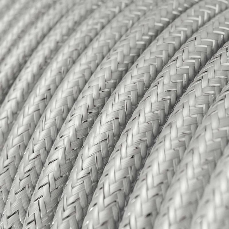 Okrugli blještavi tekstilni električni kabel RL02 - srebrna