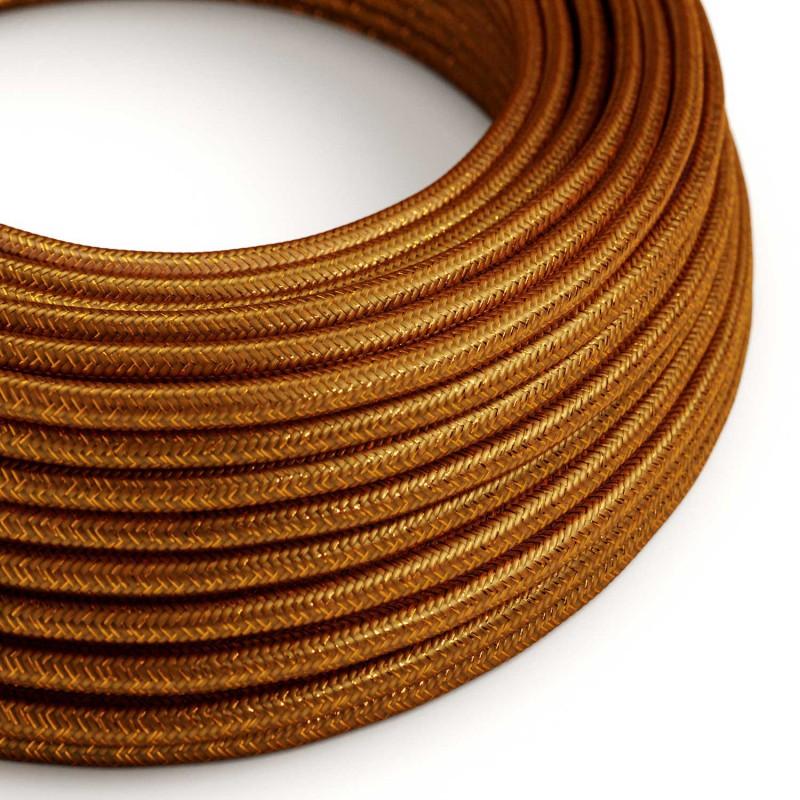 Okrugli blještavi tekstilni električni kabel RL22 - bakrena