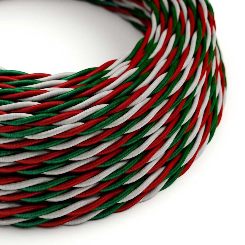 Zamotan tekstilni električni kabel - boje Italije