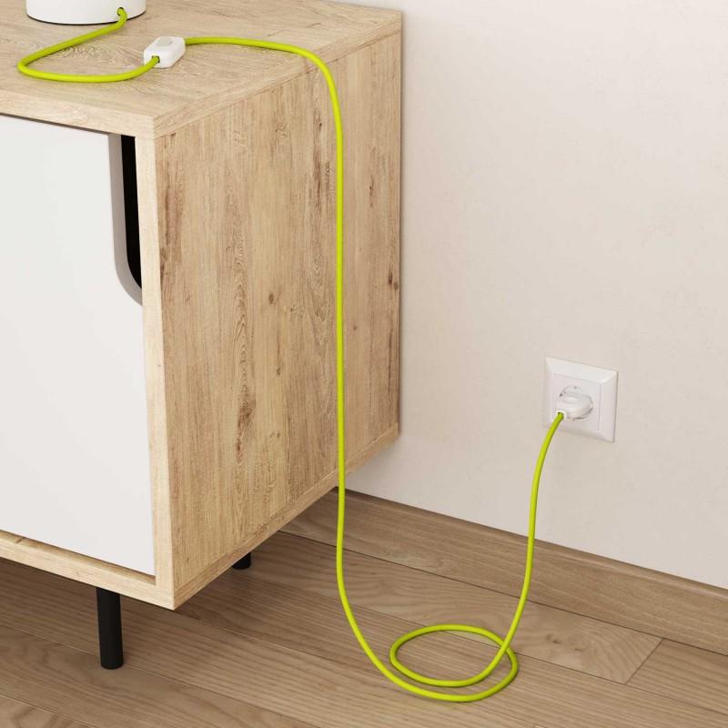 Okrugli tekstilni električni kabel Fluo žuta RF10