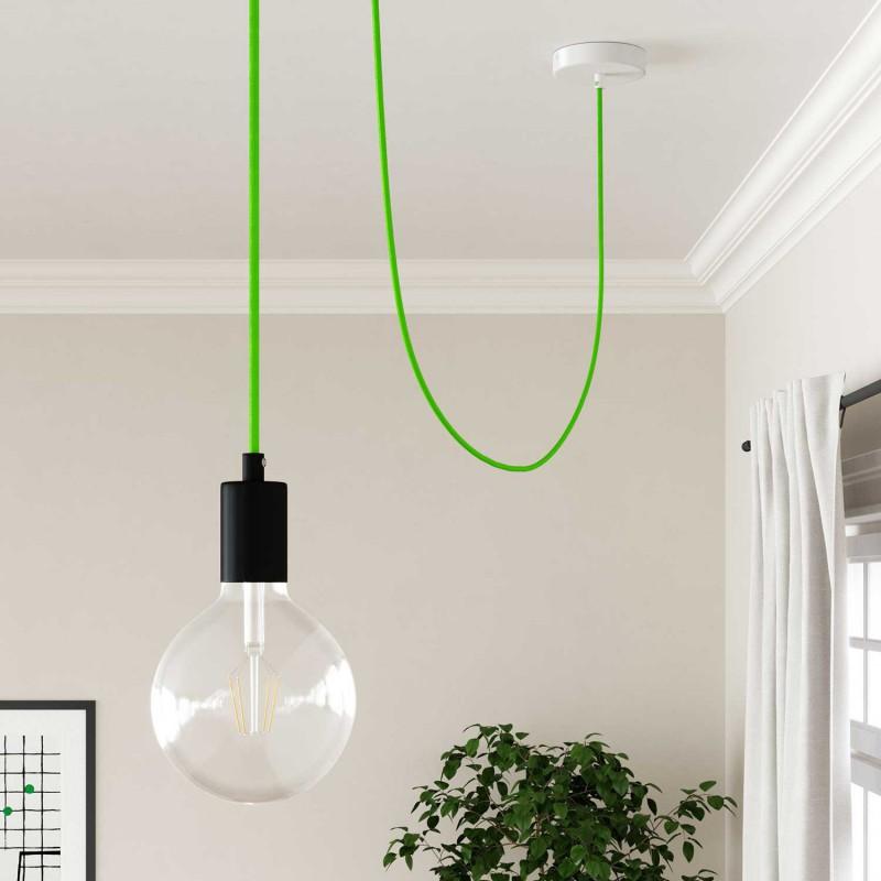 Okrugli tekstilni električni kabel Fluo zelena RF06