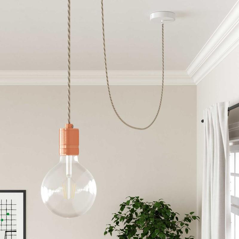 Zamotan tekstilni električni kabel Lighting Flex TN01 prirodan neutralan
