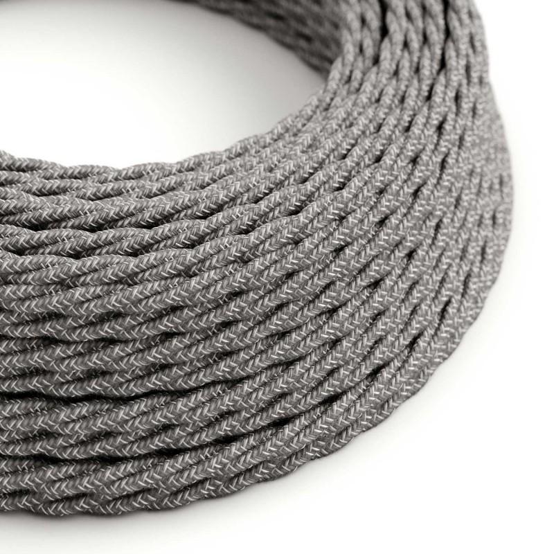 Zamotan tekstilni električni kabel Lighting Flex TN02 prirodna siva