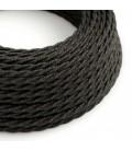 Zamotan tekstilni električni kabel Lighting Flex TN03 antracit prirodni
