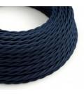 Zamotan tekstilni električni kabel TM20 Tamno plav