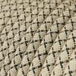 Okrugli tekstilni električni kabel RD64 romb, prirodni lan i antracit pamuk