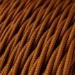 Zamotan tekstilni električni kabel TM22, Whiskey, svilenkast izgled