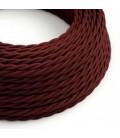 Zamotan tekstilni električni kabel TM19 - bordo svilena