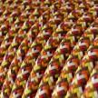 Okrugli tekstilni električni kabel - RX01 - Piksel narančasta