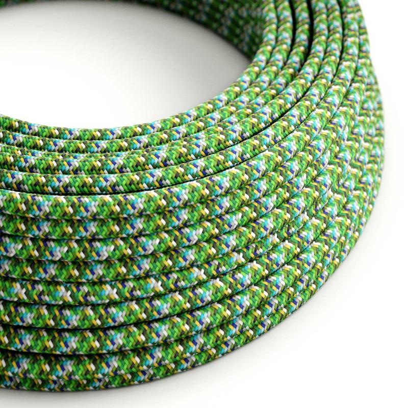 Okrugli tekstilni električni kabel - RX05 - Piksel zelena