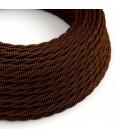 Zamotan tekstilni električni kabel Lighting Flex – TZ22 Crna Whiskey