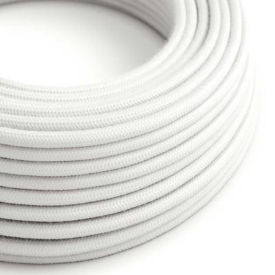 Okrugli električni kabel, bijeli pamuk, RC01