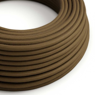 Okrugli električni kabel, braon pamuk, RC13
