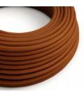 Okrugli električni kabel, jelenje smeđ pamuk, RC23