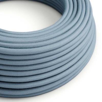 Okrugli električni kabel, svjetlo plavi pamuk, RC53 Ocean