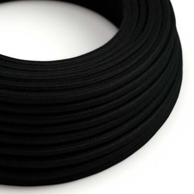 Okrugli električni kabel, crni pamuk, RC04