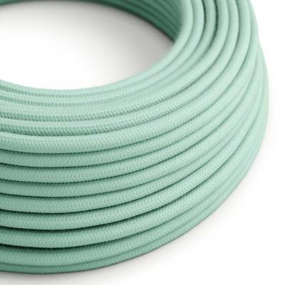 Okrugli električni kabel, svjetlo mint pamuk, RC34