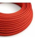 Okrugli blještavi tekstilni električni kabel RL09 - crvena