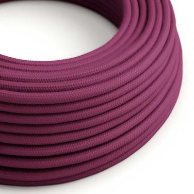 Okrugli električni kabel, bordo pamuk, RC32