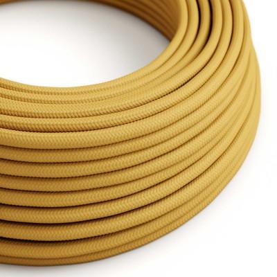 Okrugli električni kabel, senf žuta, RM25