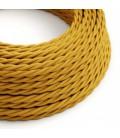 Zamotan električni kabel, senf žuta, TM25