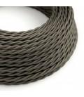 Zamotan električni kabel, tamno siva, TM26