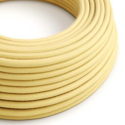 Okrugli električni kabel, blijedo žuti pamuk RC10