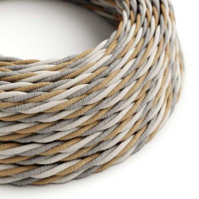 Zamotan tekstilni električni kabel Country TN07 - prekriven jutom, pamukom i prirodnim lanom