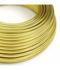 Okrugli električni kabel prekriven 100% bakrom mesing boje