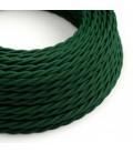 Motani električni kabel prekriven rayon tkaninom - TM21 tamno zelena
