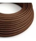 Okrugli električni tekstilni rayon kabel - RM36 boja hrđe