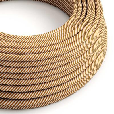 Vertigo električni tekstilni kabel - bijeli & Whiskey Flex ERM49