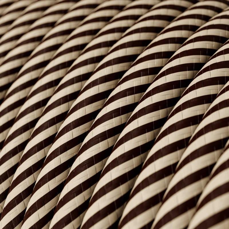 Vertigo električni tekstilni kabel - pijesak & smeđi Flex ERM51