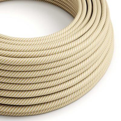 Vertigo električni tekstilni kabel - krema & orah Flex ERM53