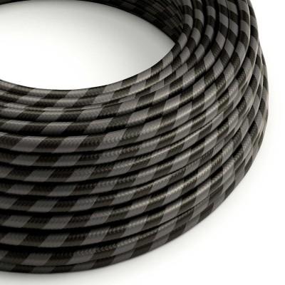 Vertigo električni tekstilni kabel - grafit & crni prugasti Flex ERM54