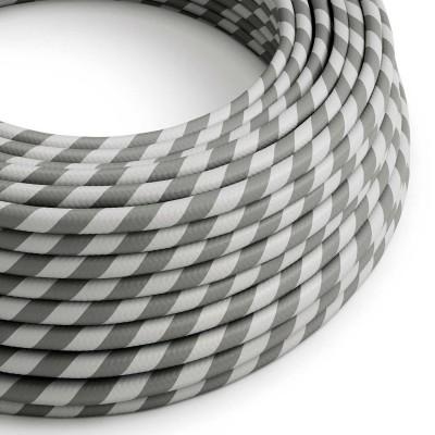 Vertigo električni tekstilni kabel - srebrno & sivo Flex ERM55