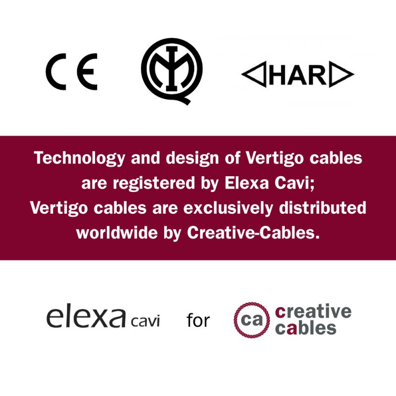 Vertigo električni tekstilni kabel - Debela juta & pamuk Flex ERN07