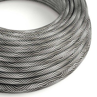 Vertigo električni tekstilni kabel - srebro & crno Flex ERM64