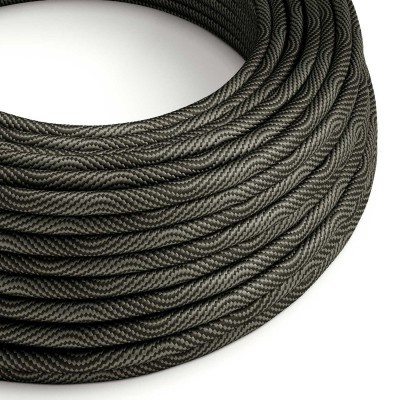 Vertigo električni tekstilni kabel - crno & sivo Flex ERM67