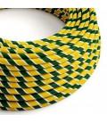 Round Electric Vertigo HD Cable covered by Springbok fabric ERM69