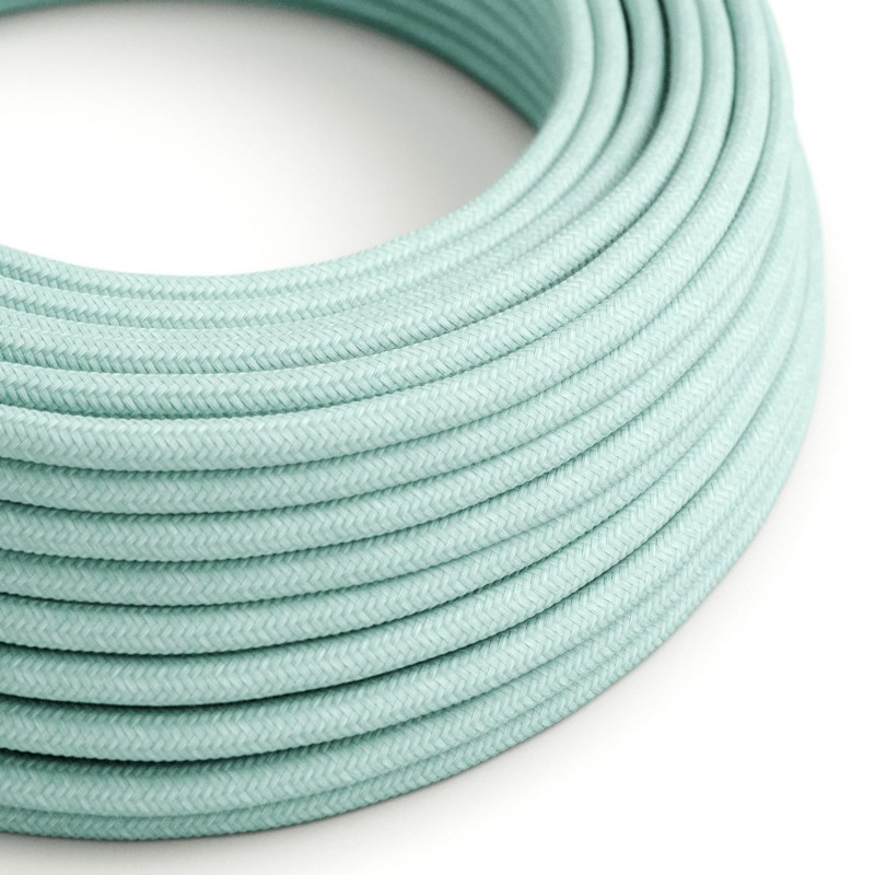 Okrugli električni kabel obučen pamukom RC18 Celadon Zelena