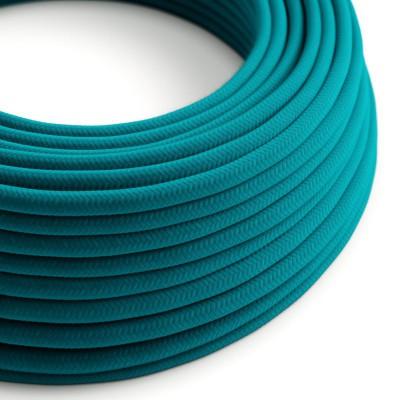 Okrugli električni pamučni tekstilni kabel u boji RC21 sivo plavi