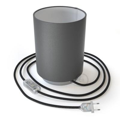Posaluce metal s Cilindro Electra Pinguino sjenilom, u kompletu s žaruljom, tekstilnim kabelom , prekidačem i utikačem
