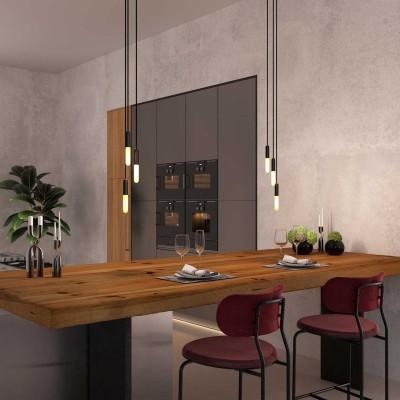 Proizveden u Italiji luster s 3 visilice u kompletu s žaruljama, P-Light i 200 mm Rose-One stropnom rozetom