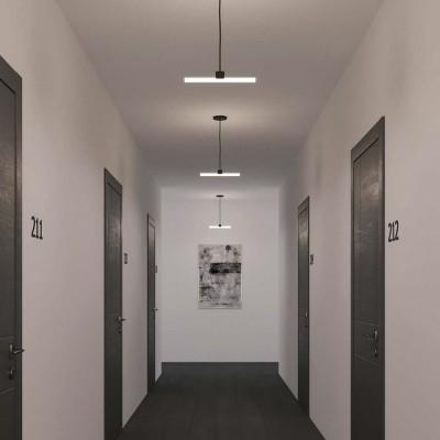 Visilica s tekstilnim kabelom, S14d Syntax® grlom za žarulju i metalnim detaljima - Proizvedeno u Italiji