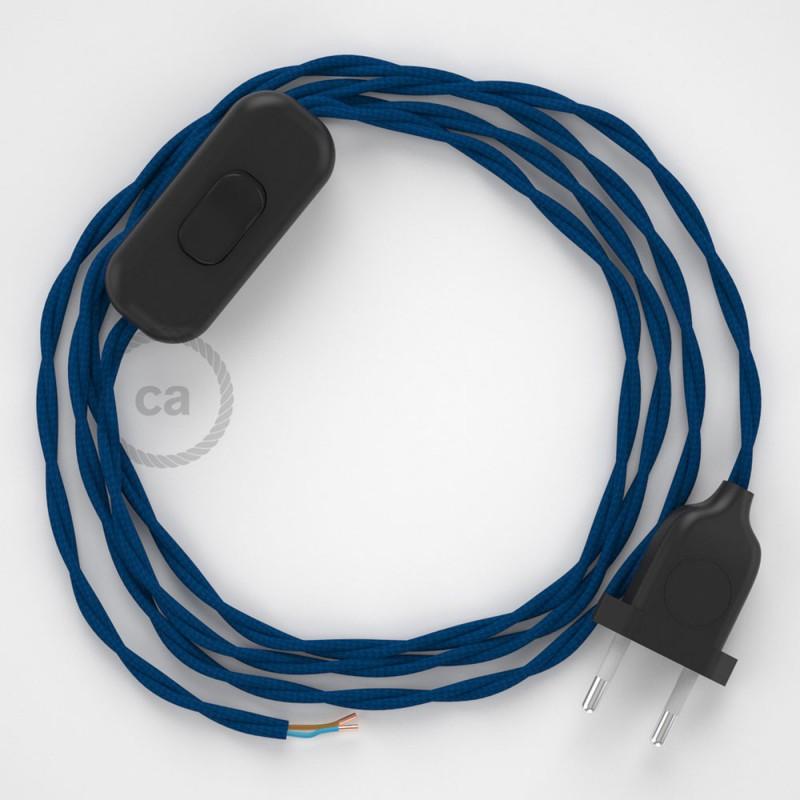 Komplet s prekidačem TM12 Plava - 1,8 m. odaberite boju prekidača i utikača!